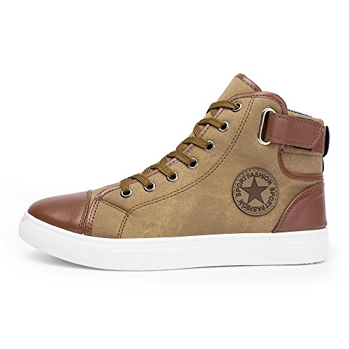 Inch Knee 4 Boot 1/2 (Men Women Causal Shoes - Lace-Up Ankle Boots - Casual High Top Canvas Shoes,SUNSEE 2019)