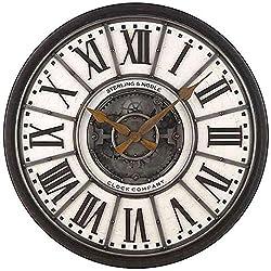 Sterling & Noble 29-Inch Industrial Gear Wall Clock