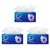 3-Ply Quilted Tissues Facial Tissue Packs Fragrance-Free Toilet Tissues 300 Sheets x 3 Packs