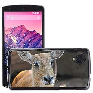 Etui Housse Coque de Protection Cover Rigide pour // M00115130 Sambar ciervos Animal Mamífero Marrón // LG Nexus 5