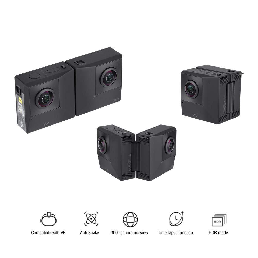 VBESTLIFE VRデュアルカメラ 超高画質全天球 Insta360 EVO 折りたたみ 5.7KスーパーHD 180度VRビデオスポーツアクション ビデオカメラ   B07PYVRFV9