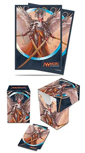 BUNDLE: Magic: the Gathering - Kaladesh - Angel of Invention (Deck Box & 80 Sleeves) (Mtg Deck Sleeves Angel)