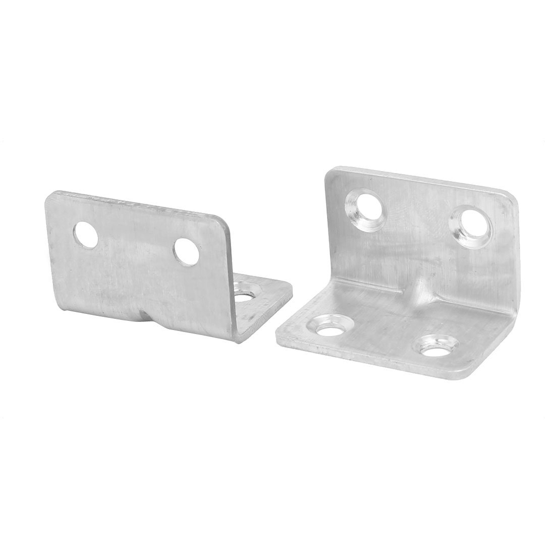 uxcell 25mmx25mmx37mm Stainless Steel Right Angle Bracket Corner Brace Fastener 50pcs by uxcell (Image #2)
