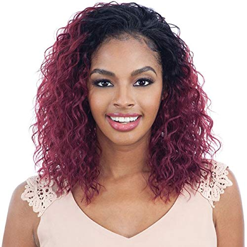 JUICY GIRL (1B Off Black) - Freetress Equal Synthetic Drawstring Full Cap Half Wig