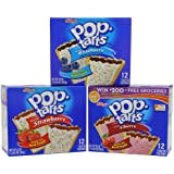 Kellogg's Poptarts Frosted Toasters, 24-Strawberry, 12-Blueberry and 12-Cherry, 88 ounce