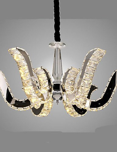 Modern LED Ceiling lampLED Crystal Lamp Modern Luxury Candle Crystal Pendant Lamp 8 , warm white-110-120v (Crystal Light Ceiling Cover)