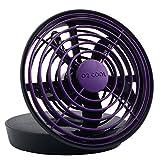 PC Hardware : O2COOL® 5-Inch Portable USB Fan, Purple by O2COOL