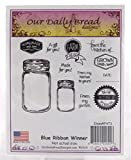 ShopForAllYou Stamping & Embossing Blue Ribbon Winner Cling Stamp Our Bread New Farm fair Canning