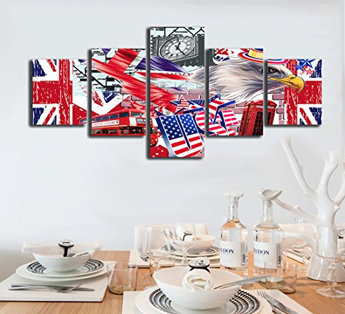 Used, Yatsen Bridge Vintage The Union Flag of Eagle USA Painting for sale  Delivered anywhere in USA