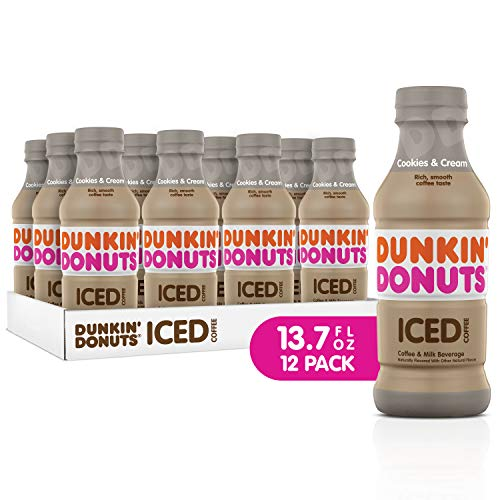 Dunkin Donuts Iced Coffee, Cookies and Cream, 13.7 Fluid Ounce (Pack of ()