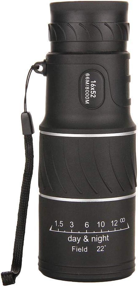 16X55 Película Verde HD Monocular De Doble Tono De Alta Potencia, Visión Nocturna con Poca Luz Adecuada para Observación De Estrellas, Observación De Aves, Concierto