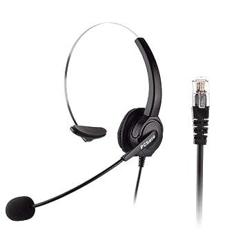 Auriculares para teléfonos IP de Cisco, PChero® 6 pies manos libres call center cancelación