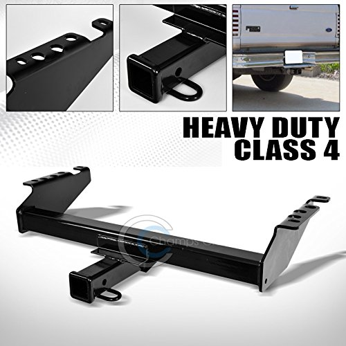 R L Racing Black Finished Class 4 Trailer Hitch Receiver Bumper Tow 2 For 1973 1997 Ford F100 F150 F250 F350