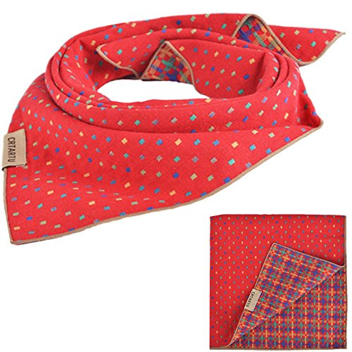 PUPTECK Pet Dog Cat Puppy Bandana Bibs Triangle Head Scarf Accessories Neckerchief for Small to Large Breed, - Dog Bandana Christmas