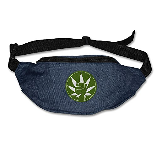 Weed Leaf Art Marijuana Tie Dye Weed Running Waist Pack Bag Outdoor Sports Fanny Pack For Hiking Climbing Men Women