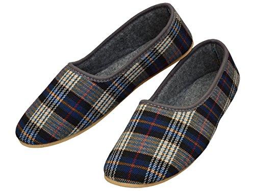 Bawal - Zapatillas de estar por casa de tela para mujer azul azul 40