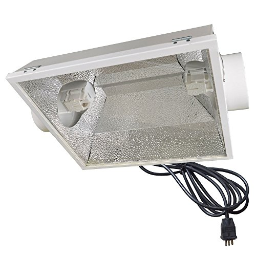 Vegelumax VLDEGH6 Double Ended Air Cool Glass Hood Reflector, 6-Inch, Hinged and Clamp Opened by Vegalumax