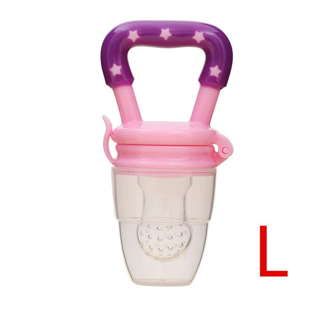 SEN Alimentador de Fruta para beb/és Chupete Nutrici/ón para beb/és Frutas Verduras masticables Mordedura de Fruta Rosa L 34 mm