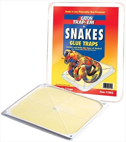 JT Eaton 100S Stick-Em Snake and Rat Size Peanut Butter Scented Glue Trap, 2 (Stick Em Rat)