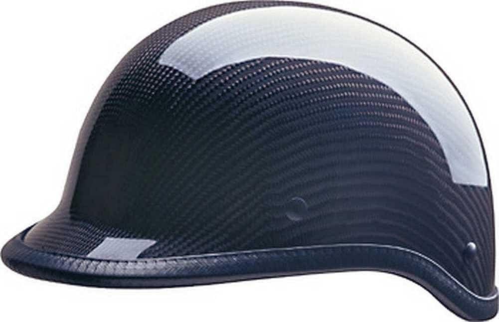 HCIカーボンファイバーポロブラック – バイクハーフヘルメットABSシェル105 – 217 L  B0088XPVY6
