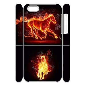 Fire Horse Customized 3D Case for Iphone 5C, 3D New Printed Fire Horse Case