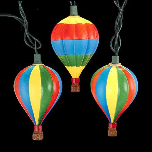 (Kurt Adler Set of 10 Multi-Colored Hot Air Balloon Christmas Lights 3.50
