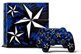 PS4 Console Designer Skin for Sony PlayStation 4 System plus Two(2) Decals for: PS4 Dualshock Controller - North Star Blue offers