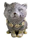 Cheap Rainy Day Pudgy Cat Garden Statue 7.75 Inch