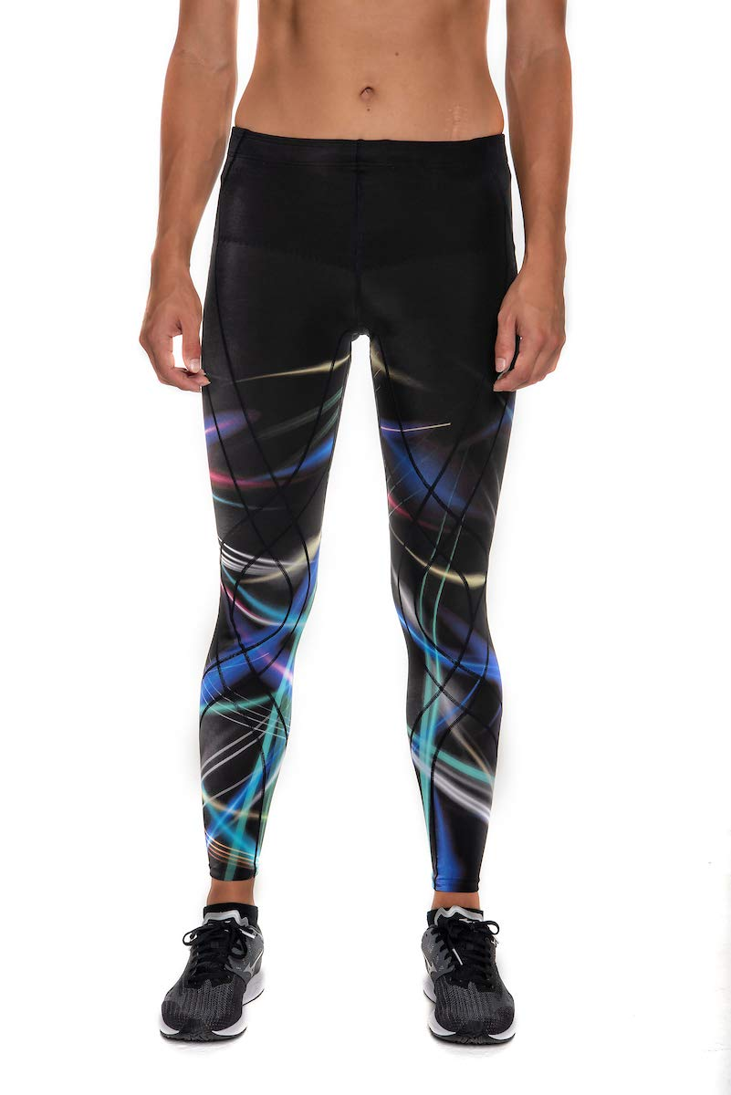 CW-X Endurance Generator Full Length Compression Tights, Laser Flash Print, Large by CW-X (Image #3)