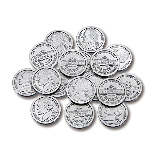 Learning Advantage, Play Nickel Plastic Coins - Set of 100