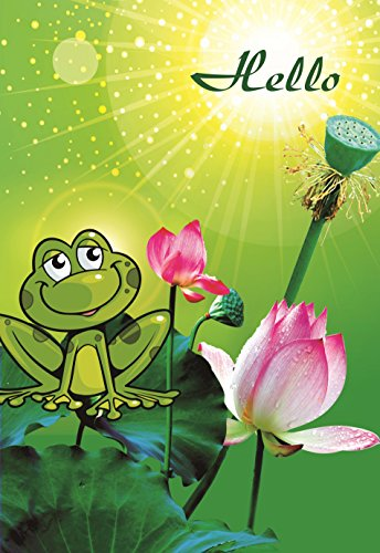 Decorative Frog Garden Flag Colorful Spring Summer Double Sided 12.5'' X 18'' ()