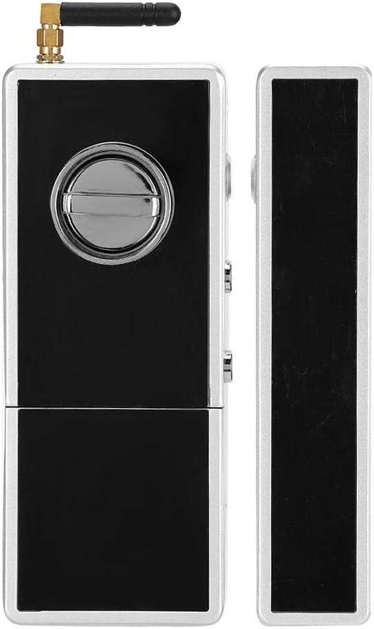Cerradura de puerta de vidrio doble, cerradura de puerta de vidrio inteligente sin llave electrónica de aleación de ...