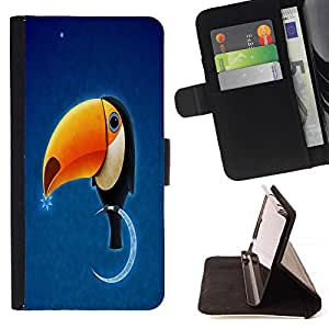 BETTY - FOR Sony Xperia Z3 D6603 - Funny TOUKAN TOUCAN Bird - Style PU Leather Case Wallet Flip Stand Flap Closure Cover