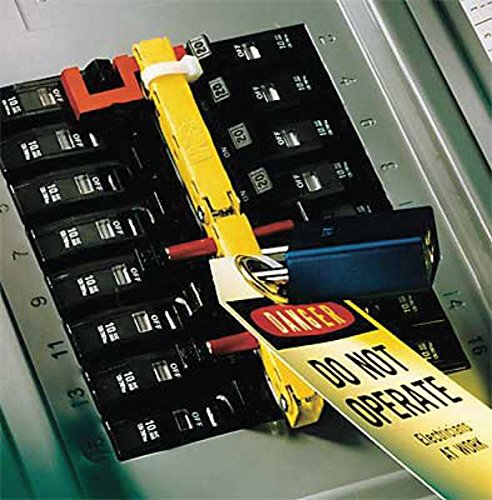 - 3M Panelsafe PS-1021 Yellow Circuit Breaker Lockout System - Pin Style - 21 breaker slots - PS-1021 [PRICE is per EACH]