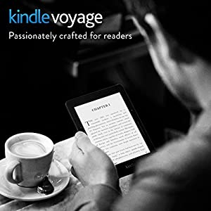 "Kindle Voyage E-reader, 6"" High-Resolution Display (300 ppi) with Adaptive Built-in Light, PagePress Sensors, Wi-Fi + Free Cellular Connectivity - Includes Special Offers"