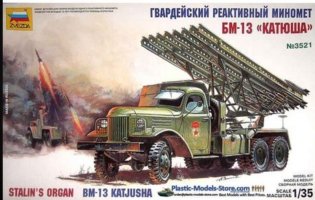 - BM-13 Katyusha Multiple Rocket Launcher WWII 1/35 Zvezda 3521