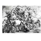The Battle Anghiari After Leonardo da Vinci Peter Paul Rubens Art Print, 27 x 20 inches