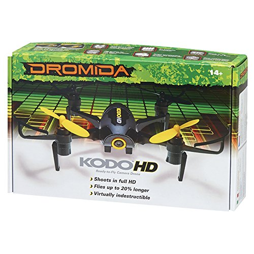 51QJM4q-B8L Dromida KODO HD Ready-to-Fly Electric-Powered 106 mm Radio Controlled Drone with Integrated 1080p HD Digital Camera