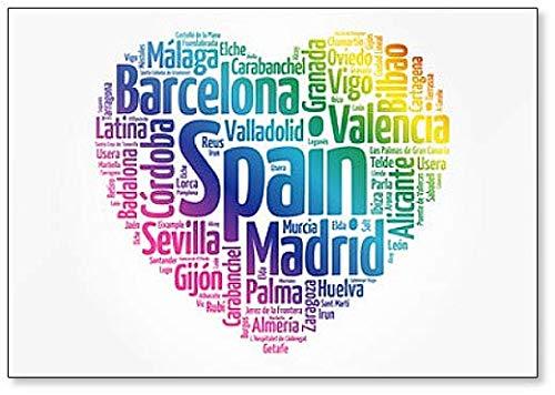 Lista de ciudades y pueblos en España, Word Cloud Collage ...