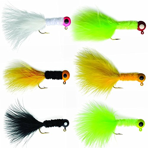 Mixed 30pcs Crappie Jigs Fishing Hard Lure