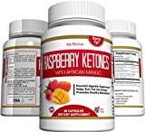 Cheap Raspberry Ketones Weight Loss Dietary Supplement with African Mango Extract, All-Natural Keto Diet Pills for Women and Men, Appetite Suppressant, Gluten Free, Non GMO (60 Capsules, 30 Day Supply)