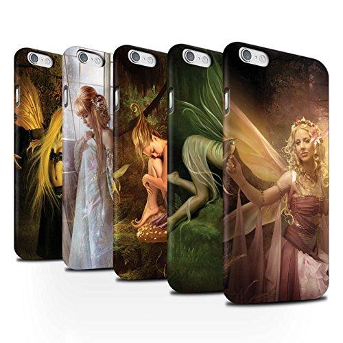 Officiel Elena Dudina Coque / Clipser Matte Etui pour Apple iPhone 6 / Pack 10pcs Design / Fées Élégantes Collection