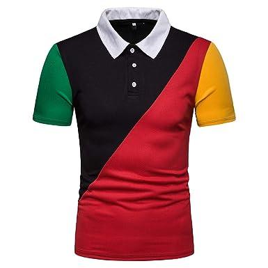 Huichang_Men T-shirt - Polo - Manga Corta - para Hombre Negro ...