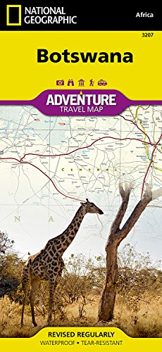 Botswana (National Geographic Adventure Map)