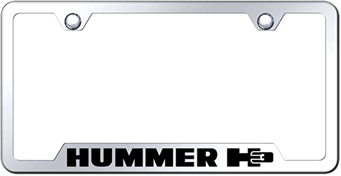 Hummer H3 Black Lettering Mirror Stainless Steel License Plate