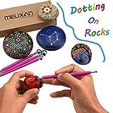 Meuxan 13 Piece Ball Stylus Dot Painting Tools for Mandala Rock Art, Polymer Clay & Ceramic Pottery Craft, Embossing Pattern