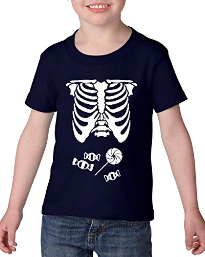 [Xekia Kids Hallowen Costume Skeleton with Candies Halloween Fashion Children Gifts Toddler Kids T-Shirt Tee Clothing 5T Navy] (Hallowen Contact Lenses)