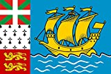magFlags Large Flag Saint Pierre and Miquelon | landscape flag | 1.35qm | 14.5sqft | 90x150cm | 3x5ft -- 100% Made in Germany -- long lasting outdoor flag