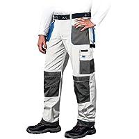 Leber&Hollman LH-FMN-T_WSN46 - Pantalones protectores (talla 46), color blanco y azul