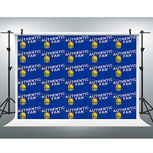 Warriors Authentic Fans Blue Photography Backdrop for Golden State Basketball, 9x6FT, NBA Step and Repeat Banner Background, Photo Booth Studio Props LHLU443